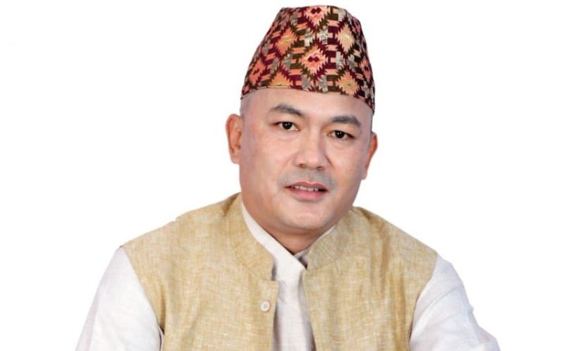 Birendra Shrestha in Dhaka Topi