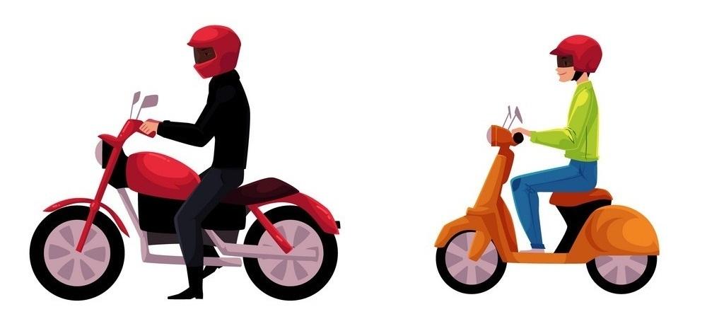 मोटरसाइकल र स्कुटर